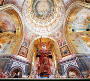 Патриаршее служение в день памяти равноапп Кирилла и Мефодия в Храме Христа Спасителя
